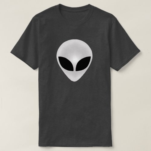 Alien Head Dark T_Shirt
