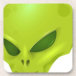 Alien Head Drink Coaster