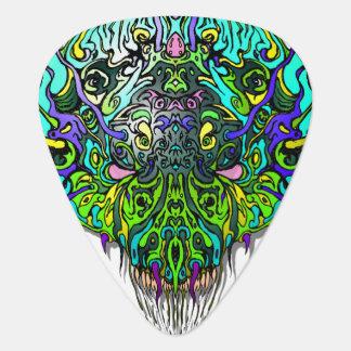 Alien Head Evil Species # 44 - Aqua 2 Guitar Pick