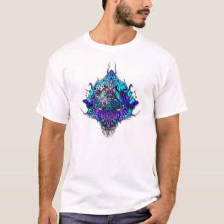 Alien Head Evil Species # 44 - blue and purple T-Shirt
