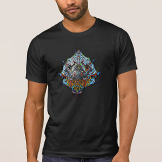 Alien Head Evil Species # 44 - blue on black T-Shirt