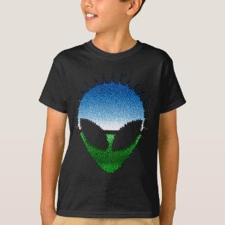 Alien Head - Glitter Face Reptilian or Grayling T-Shirt