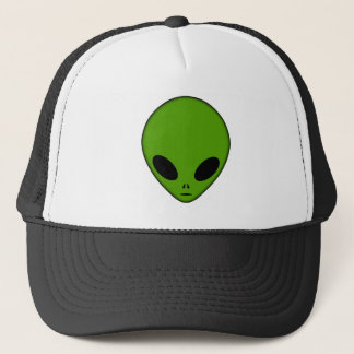 Alien Head Green Trucker Hat