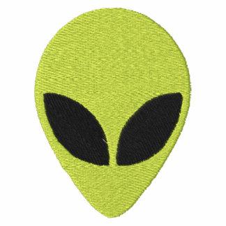 Alien Head Green with Black Eyes Pattern