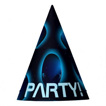 Halloween Themed Alien head in space party hat