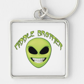 Alien Head Middle Brother Keychain