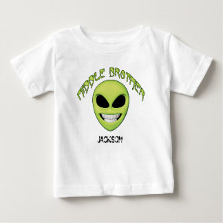 Alien Head Middle Brother Personalized Baby T-Shirt