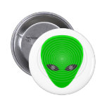 Alien Head Mind Control Pinback Button