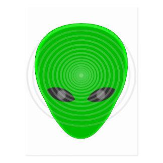 Alien Head Mind Control Postcard