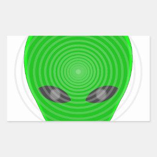 Alien Head Mind Control Rectangular Sticker