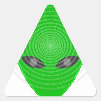 Alien Head Mind Control Triangle Sticker