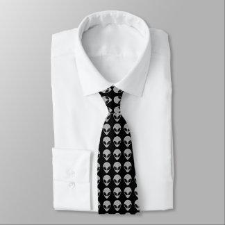 Alien Head Pattern Tie