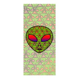 ALIEN HEAD RACK CARD