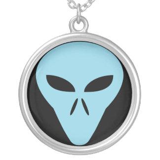 Alien Head Round Pendant Necklace