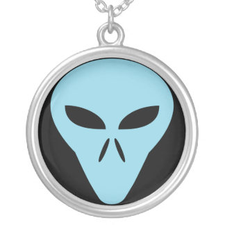 Alien Head Silver Plated Necklace