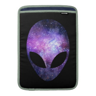 Alien Head With Conceptual Universe Purple Sleeve For MacBook Air