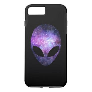 Alien Head With Conceptual Universe Purple iPhone 7 Plus Case