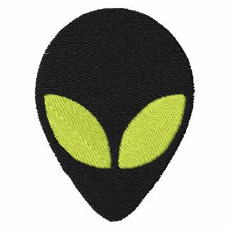 Alien Head with Green Eyes Pattern