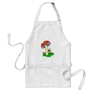 Alien Hiding Under Mushroom apron