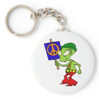 Alien Hippie Keychain