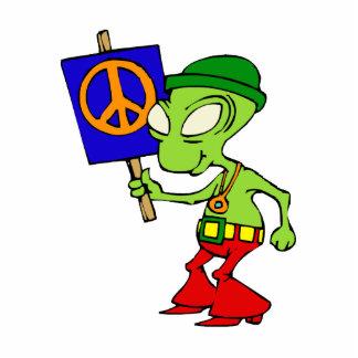 Alien Hippie Standing Photo Sculpture