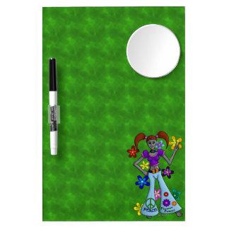 Alien Hippy Mirror Dry Erase Board With Mirror