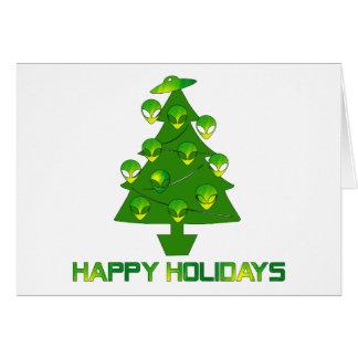 Alien Holiday Tree Card