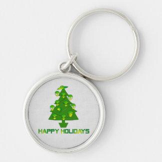Alien Holiday Tree Keychain