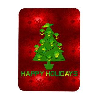 Alien Holiday Tree Vinyl Magnet