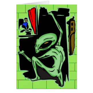 Alien Home Invasion Card