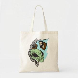 Alien Human Head Trophies Tote Bag