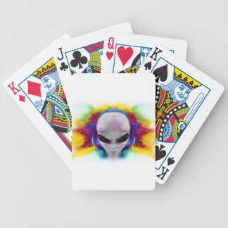 alien hybrid bicycle playing cards