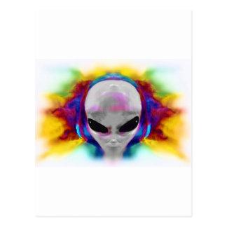 alien hybrid postcard