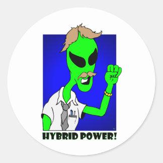 alien hybrid power stickers