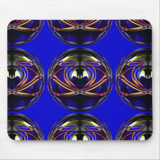 Alien-I Abstract Artistic Design Repeating Pattern Mouse Pad