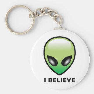 Alien: I Believe Basic Round Button Keychain