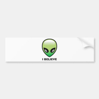 Alien I Believe Bumper Stickers