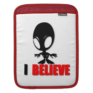 Alien I Believe iPad Sleeves