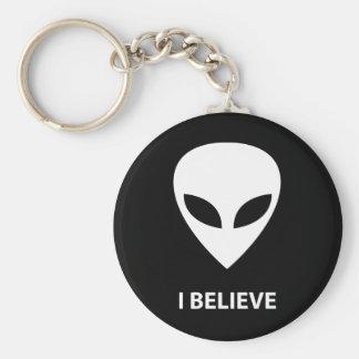 ALIEN I Believe Keychain