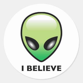 Alien: I Believe Round Stickers