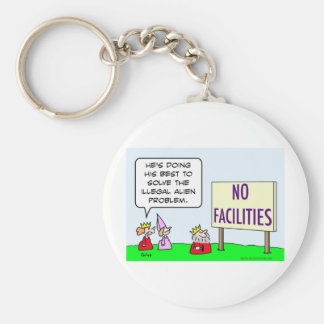 alien immigration illegal king no facilities keychain