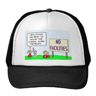 alien immigration illegal king no facilities trucker hat