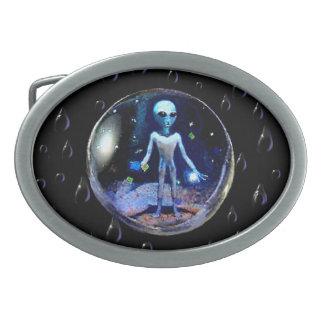 Alien in a Bubble Belt Buckle