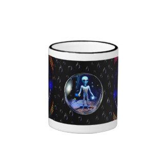 Alien in a Bubble Coffee Mug
