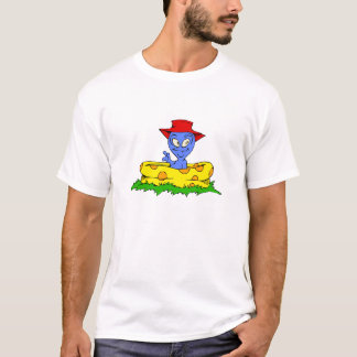 Alien in kiddie pool with hat on T-Shirt