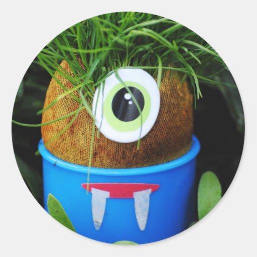 Alien In My Garden Sticker