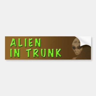 ALIEN IN TRUNK BUMPER CAR BUMPER STICKER