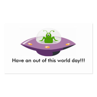 alien_in_UFO_cartoon, Have an out of this world... Business Card