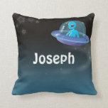 alien in ufo pillows