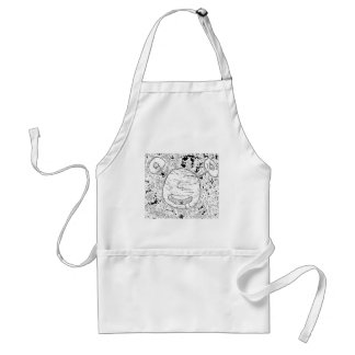 Alien Ink Stamp Adult Apron